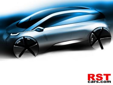 фото Появился первый тизер электрокара BMW Megacity